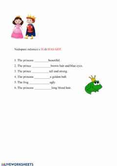 Interactive worksheet The frog prince