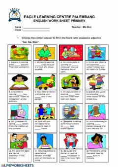 Interactive worksheet Possesive Adjective