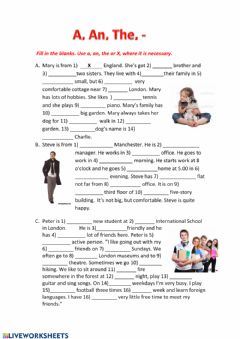 Interactive worksheet Articles 2