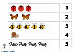Interactive worksheet number counting (1-5)