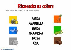 Ficha interactiva As colors