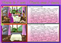 Interactive worksheet There is - are ,there was - were
