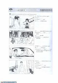 Interactive worksheet Past Simple BE