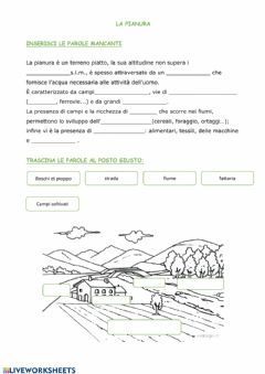 Interactive worksheet la pianura