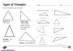 Interactive worksheet Types of Triangeles