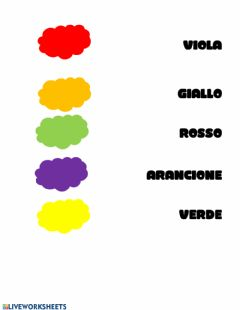 Interactive worksheet I colori