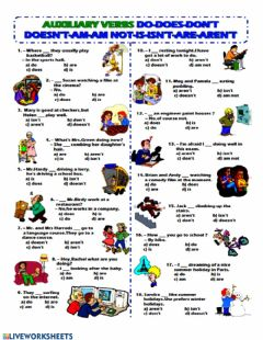Interactive worksheet Auxiliaries do-does-to be