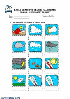 Interactive worksheet Weather Conditions Spelling