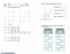 Interactive worksheet Quiz matematicas 6