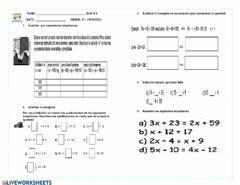 Interactive worksheet Quiz matematicas 8