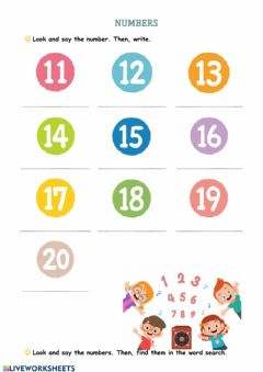 Interactive worksheet Numbers up to 100