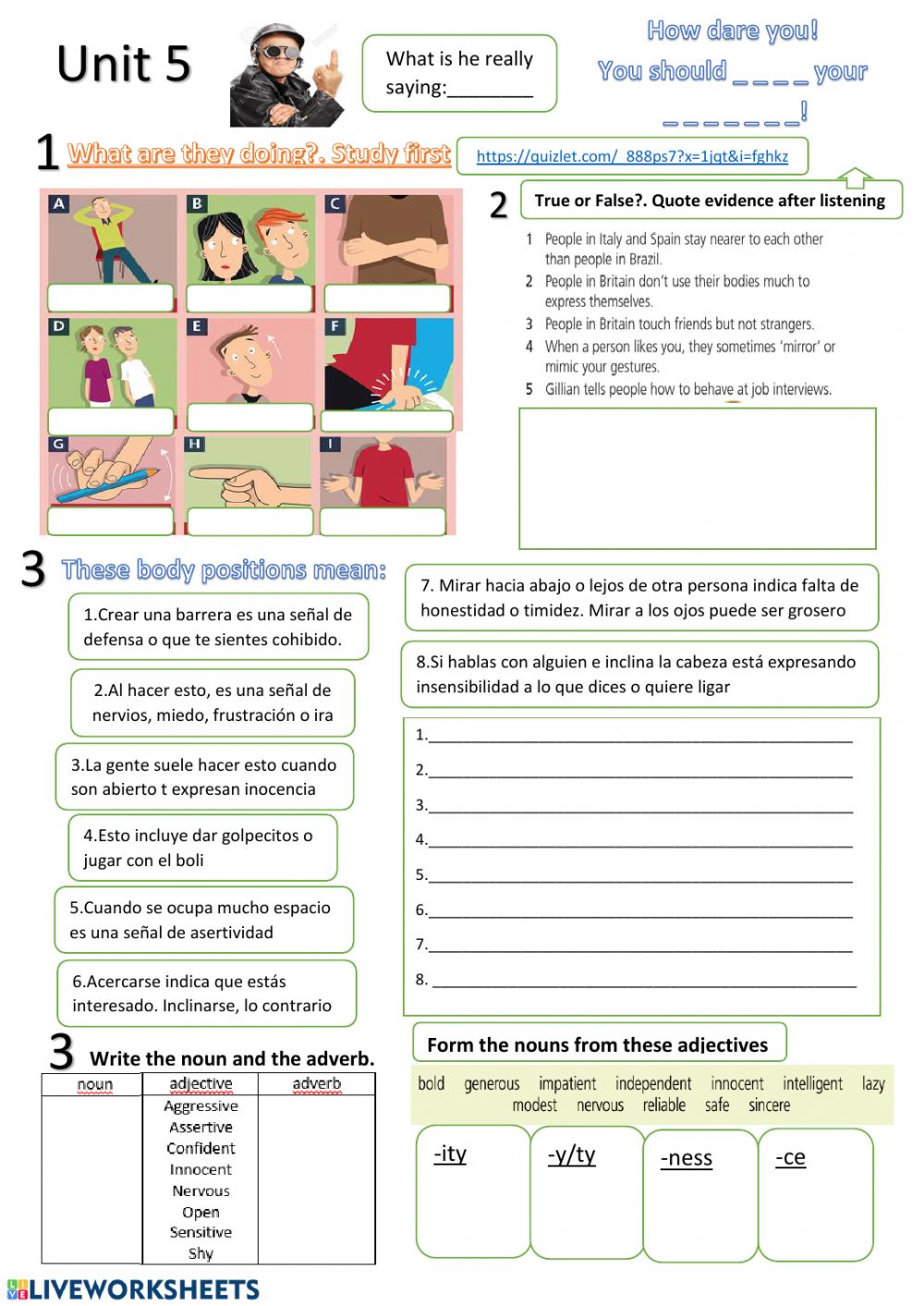 Unit 5- 1 - Interactive worksheet