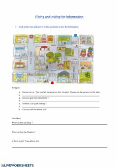 Interactive worksheet asking and giving information