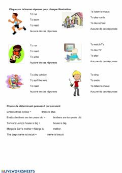 Interactive worksheet My family grammaire