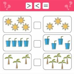 Interactive worksheet Equal,less and greater than symbols