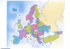 Ficha interactiva European countries Writing