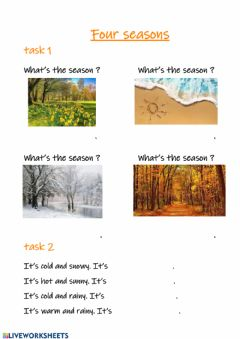 Interactive worksheet 4 seasons