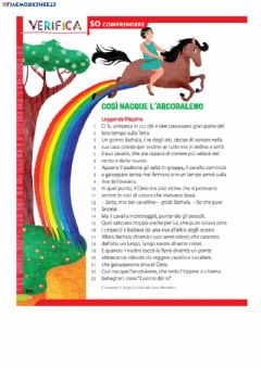 Interactive worksheet La nascita dell'arcobaleno