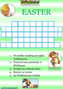 Interactive worksheet Easter
