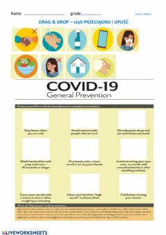 Interactive worksheet Coronavirus -reading comprehension