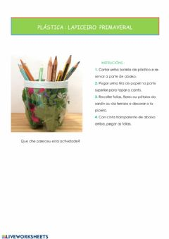 Interactive worksheet Lapiceiro primaveral