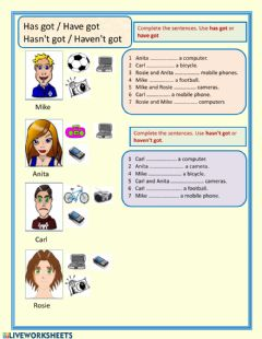 Interactive worksheet Possessions