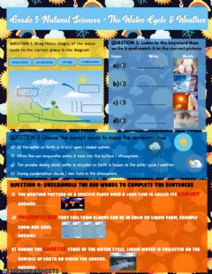 Ficha interactiva Grade 5 Water Cycle & Weather