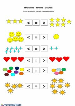 Interactive worksheet Maggiore minore uguale