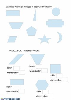 Interactive worksheet Wielokąty