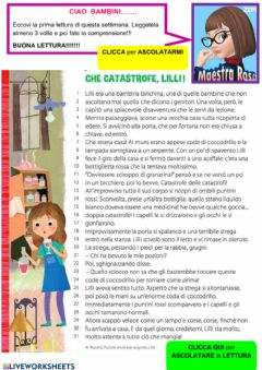 Interactive worksheet Lettura Lilli