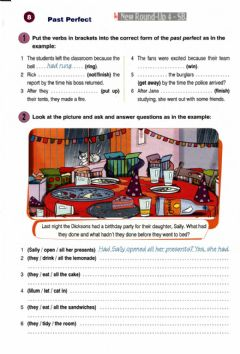 Interactive worksheet Past perfect new round up 4