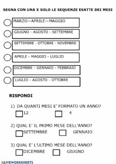 Interactive worksheet Mesi dell'anno