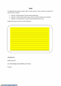 Interactive worksheet Writing an email