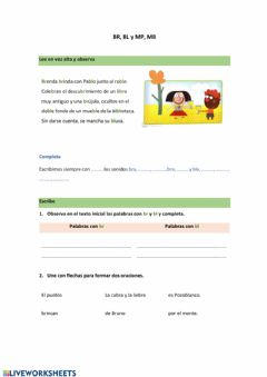 Interactive worksheet BR, BL- MB, MP