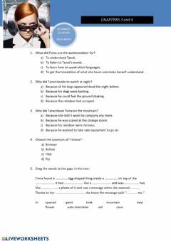 Interactive worksheet A Spy in Siberia (Ch. 3 & 4)