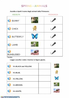 Interactive worksheet Spring - animals