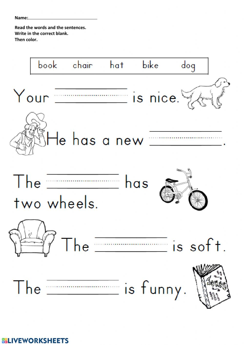 - Reading And Writing Interactive Worksheet