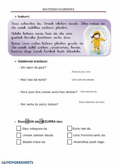Interactive worksheet Euria