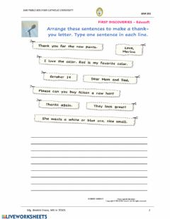 Interactive worksheet Shopping for Clothes