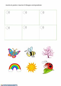 Interactive worksheet Spring is here (listening)