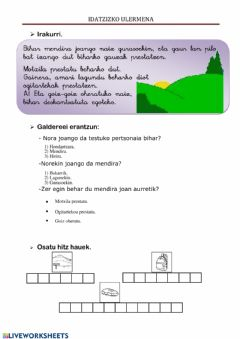 Interactive worksheet MENDIRA NOA