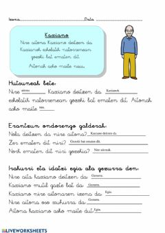 Interactive worksheet Hainbat testu