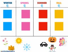 Interactive worksheet Seasons