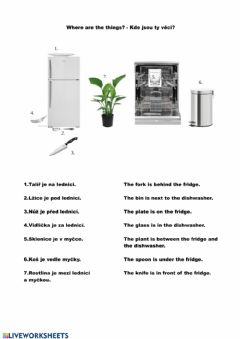 Interactive worksheet Prepositions of place - matching