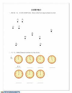 Interactive worksheet Numbers basic