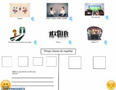 Interactive worksheet Things to do with friends