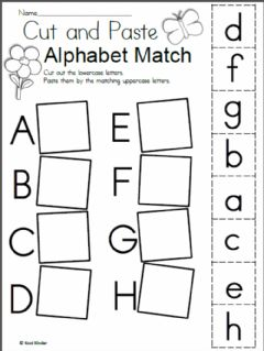 Interactive worksheet Alphabet matching