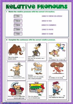 Interactive worksheet Relative Pronouns