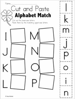 Ficha interactiva Letters matching