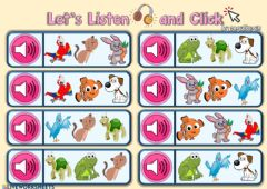 Interactive worksheet 2.8. Pets - Let's Listen and Click